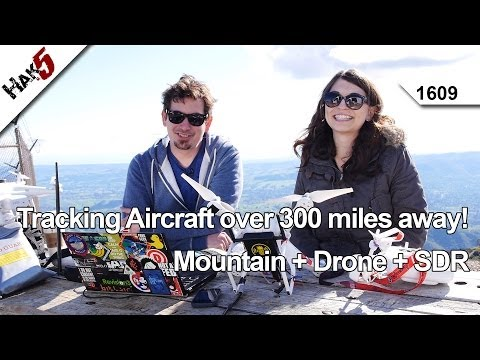 Tracking Aircraft over 300 miles away! Mountain + Drone + SDR, Hak5 1609