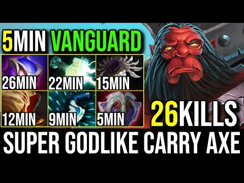 Mjollnir [Axe] SUPER GODLIKE Offlaner to Carry Axe By World Top 1 Axe kpii 26Kills   Dota 2 FullGame