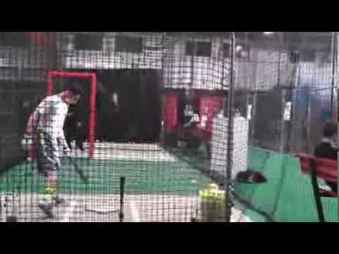 Nick Perez (2015 SS, The Hun School of Princeton)--Hitting (2/1/2014)
