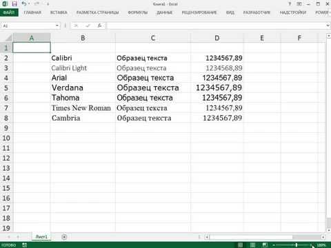 Трюки Excel: Изменение шрифта по умолчанию для всех листов рабочей книги