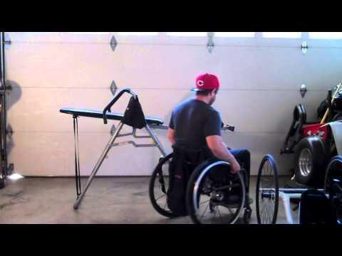 Paraplegic Using Inversion Table