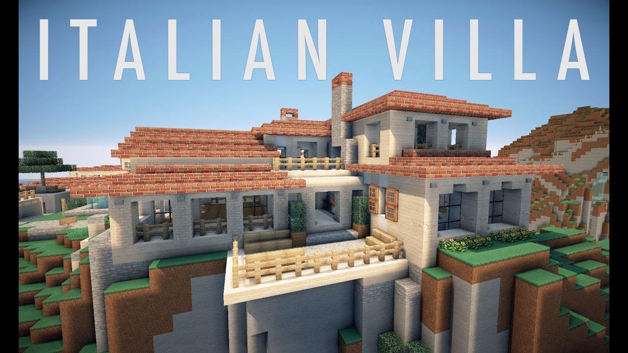 Minecraft italian villa on world of keralis creative for Villa italia modelos