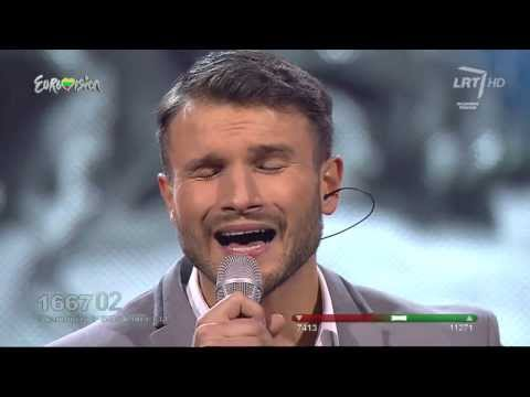 Vaidas Baumila take A Look At Me Now  Lithuania In The Eurovision Song Contest video