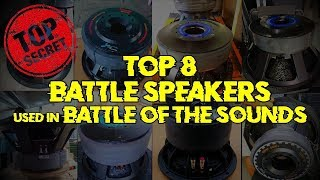 TOP 8 BEST BATTLE SPEAKERS(SUB) USED IN BATTLE OF THE SOUNDS PAUPAS (TEAM TURBO,TEAM BULLDOZER)