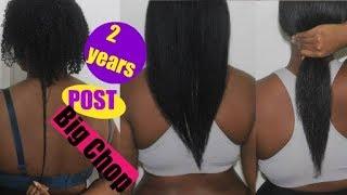 Flat Iron on Natural Hair | 2 Years Post Big Chop