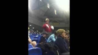 Man goes crazy at uci college basketball game