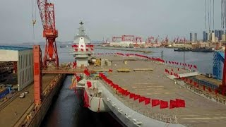 Watch: China's first domestically-built aircraft carrier launch ceremony