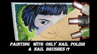 *NEW* Nail Polish Challenge! Painting using only nail brushes! Audrey Tautou / Amélie Win or Fail?!
