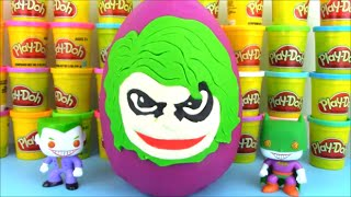 Joker Giant Surpise Egg with Joker Vs Batman Toys