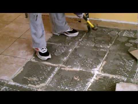 Ceramic tile removal from concrete