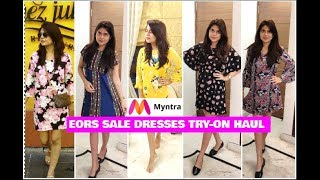 MYNTRA EORS | DISCOUNT | SALE  FASHION DRESSES TRY ON HAUL ||Clothes and Creativity