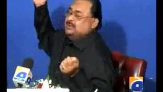 Altaf Hussain Singing song.. burkhay mein rehnay do burkha na uthooo..
