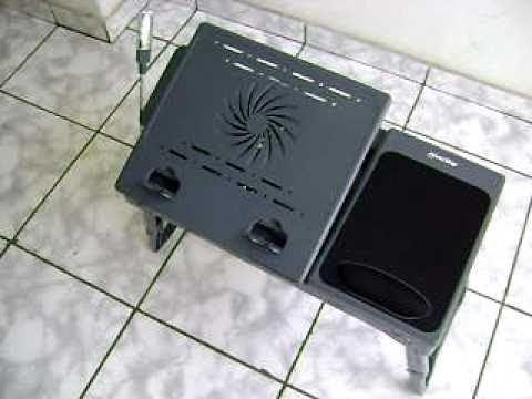 Mesa para Notebook Notetable com Hub USB. Luminaria e Cooler