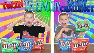 Twin Telepathy Candy Challenge || Real Twins Vs Fake Twins