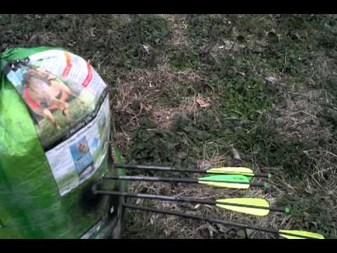 Gtrmddnss!  Homeade crossbow target. MADE EASY! & FREE!