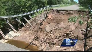 Some roads washed away from storm in Northern Wisconsin