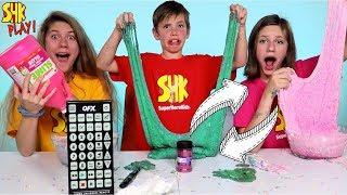 PAUSE SLIME CHALLENGE SWITCH-UP! Sis vs Bro vs Sis SuperHero Kids Challenges