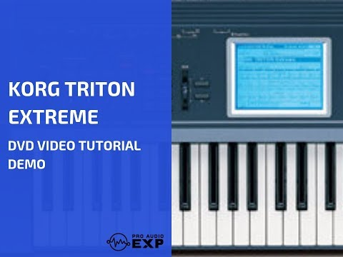Korg Triton Extreme DVD Video Tutorial Demo Review Help