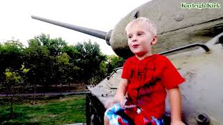 TANK Toy museum cars with Baby - Kayleigh Kirk