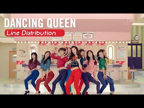 [Line Distribution] Dancing Queen - SNSD