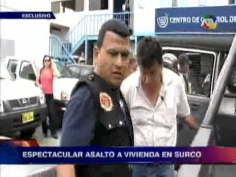 Surco: Cámaras de seguridad captan espectacular asalto a vivienda (VIDEO)