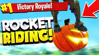 HOW TO USE ROCKET RIDING TO WIN! (Fortnite Battle Royale)