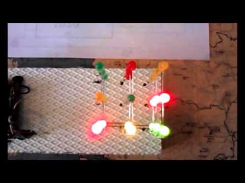 3x3x3 LED Cube (non Microcontroller)