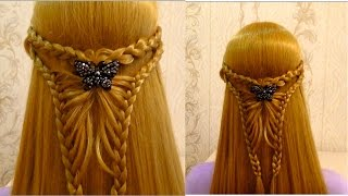 Прическа в школу с плетением.Easy back to school hairstyles for long hair