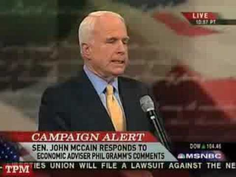McCain: Gramm Can Be Ambassador to Belarus Video
