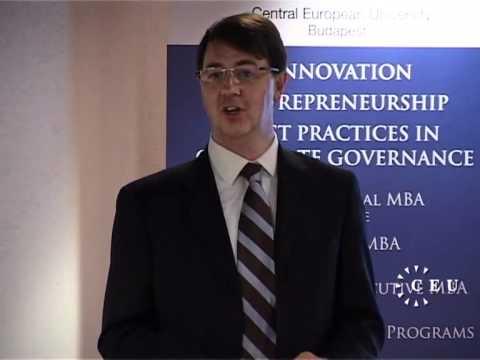 Business school alumnus Michael McNutt on his successes post-CEU