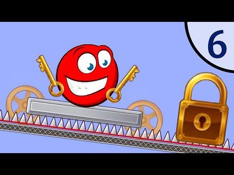 Новый Несносный КРАСНЫЙ ШАР #6. Мультик ИГРА New Red Ball на Игрули TV