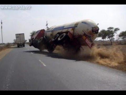 accidentes de camiones, bestiales accidentes, truck Accident, car crash, (recopilacion 2013) part.1