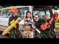 GUGU Nerf War : CID Dragon Fight Dangerous Criminals Shaco Mask Mission Impossible 2