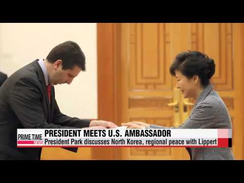 President Park discusses North Korea, regional peace initiative with U.S. ambass