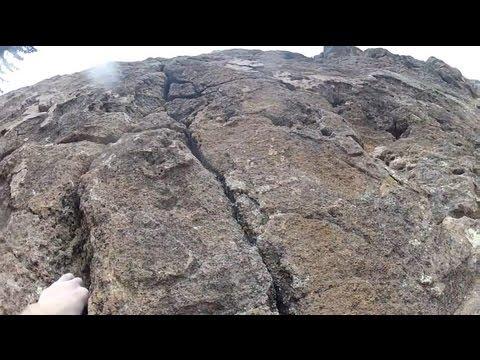 Trad Climbing Los Conchas, New Mexico