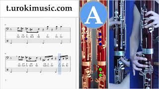 สอนเล่นบาสซูน Super Mario Bros - Theme ตัวโน๊ต หัดเล่นบาสซูน um-a796