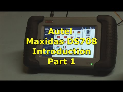 Autel MaxiDas DS708  All Systems Setup and Registration Part 1