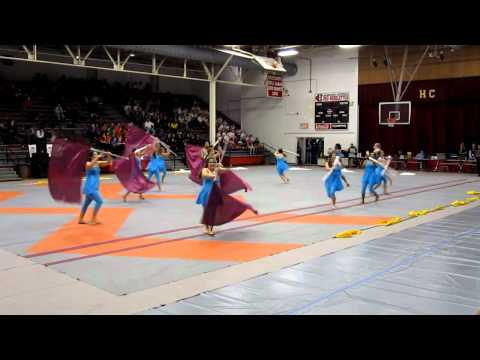 Dutchtown (Geismar, LA) High winterguard at Harrison Central, MS, Feb 4, 2012