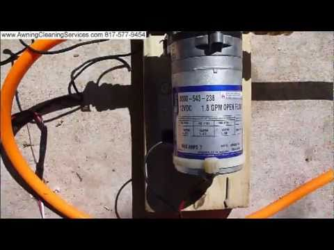 Testing A Shurflo 12 volt Water Pump on a Sprayer Dallas Fort Worth TX DFW