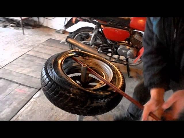 Разбортировка колес в домашних условиях