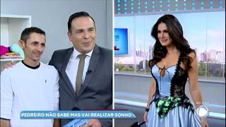 Miss Brasil usa vestido feito por pedreiro que sonha em ser estilista