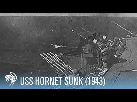 USS Hornet Sunk by Japanese Torpedoes [Full Resolution]