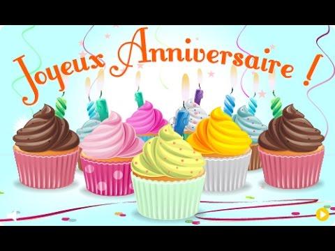 Поздравление с днем рождения французский язык 182