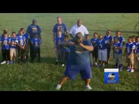 Football Coach Feels the Groove