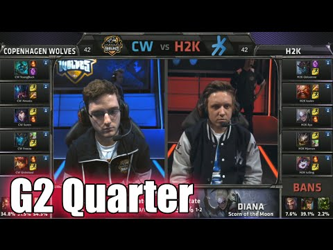 H2K Gaming vs Copenhagen Wolves | Game 2 Quarter Finals S5 EU LCS Spring 2015 playoffs | H2K vs CW