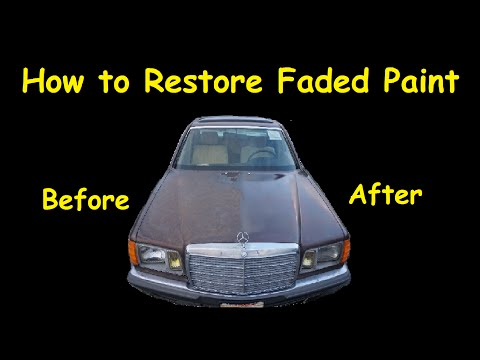 How To Restore Faded paint Polishing Old Cars Detailing Video