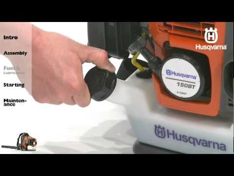 Husqvarna Backpack Blowers - Fuel and Lubrication