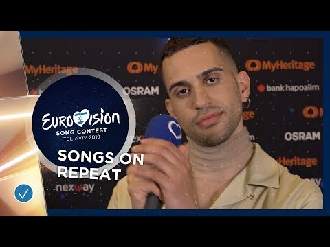 Which Eurovision 2019 songs do the artists play on repeat?