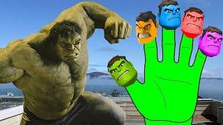 Hulk Spiderman Finger Family Song Colors Nursery Rhymes Lyrics