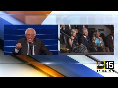 "AWKWARD. Bill Clinton & Co. DESPERATE for Bernie Sanders to say ""We Need Hillary"" during DNC Speech"